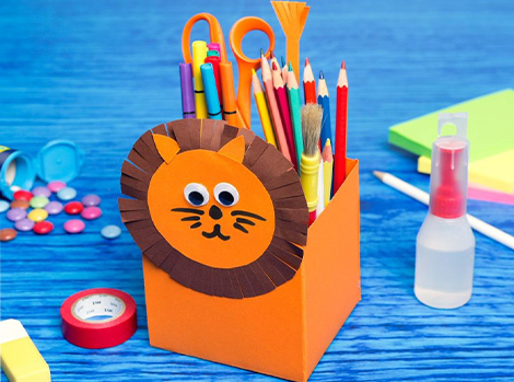 Lion Pencil Holder Thumbnail