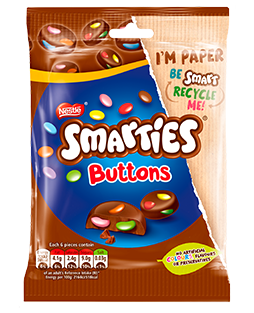 SMARTIES Milk Chocolate Buttons Sharing Bag 90g